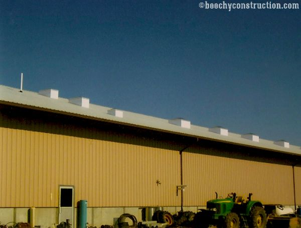 commercial construction pole barn building in Indiana